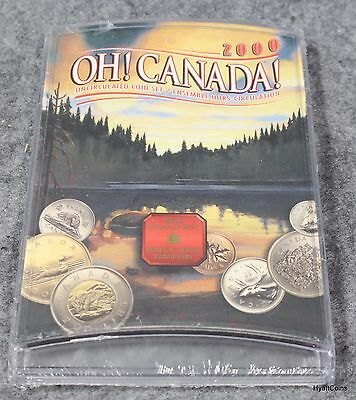 2000 Oh! Canada! Uncirculated Coin Set Royal Canadian Mint