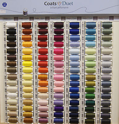Coats Duet Sewing Thread   100% Polyester   100M   GREENS  