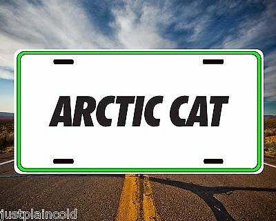 Arctic Cat snowmobiles style license plate green border