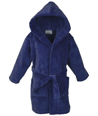 Star Boys Girls Hooded Velour Bathrobe Cotton Robe for kids