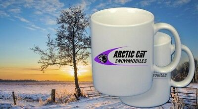 Arctic Cat snowmobile vintage style Coffee Mug set of Two #3