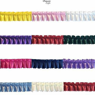 Pre Pleated Florist Poly Waterproof Ribbon Trim 50mm - Choose Length 11 Colours