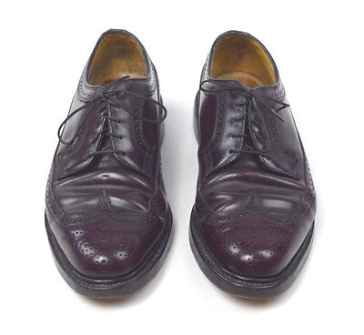 FLORSHEIM IMPERIAL Brown Shell Cordovan Leather Wingtip Oxford Dress Shoes 7.5 D