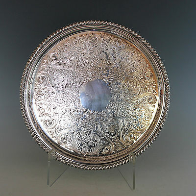 """Vintage Rogers Silverplate Reticulated 12 1/2"""" Gallery Tray"""