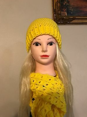 Handmade hat and infinity scarf