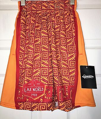 LAX World Lacrosse Youth Boys Girls Shorts Aztec Nation Small Medium & Large NEW