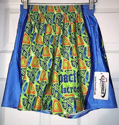 LAX World Lacrosse Men's Shorts Pacific Surf San Diego  Small NEW