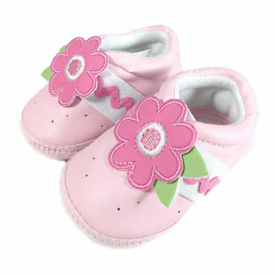 Baby Shoes/Pre Walkers/Slippers/Booties Newborn Kids/Girls Flower Pink Soft