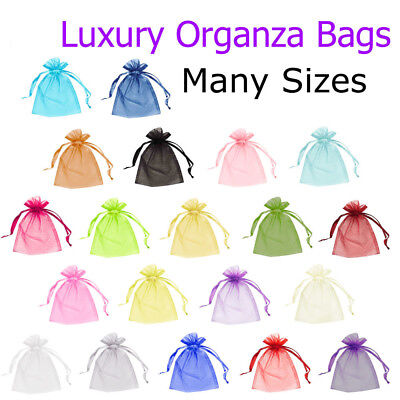 100 Organza Gift Bags Jewellery Candy Packing Pouches Wedding Party Favour