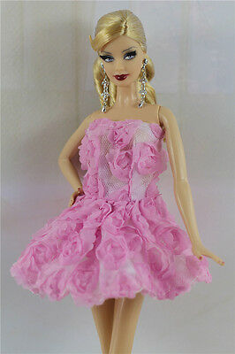 Lovely Fashion Pink Dress/Clothes/Outfit/Ballet Dress For Barbie Doll D05U