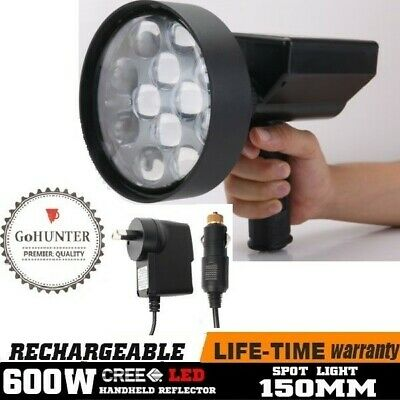 GoHUNTER 60W Rechargeable Spotlight 6500LM Hunting Torch Spot Light US CREE LED