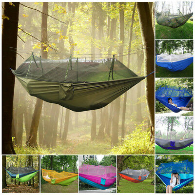 Outdoor Jungle Hammock Double Person Swing Bed Travel Camping With Mosquito Net