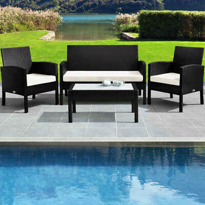 Salon de jardin Lounge - Ensemble Chaise + table 7 pcs Canapé fauteuil Sofa