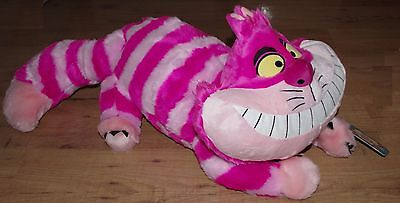 Disney Store Cheshire Cat Large Soft Toy Alice in Wonderland H30 60cm long pink