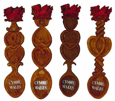 Welsh Dragon Love Spoon Fridge Magnet- Souvenir Gift From Wales - Choice Of 4