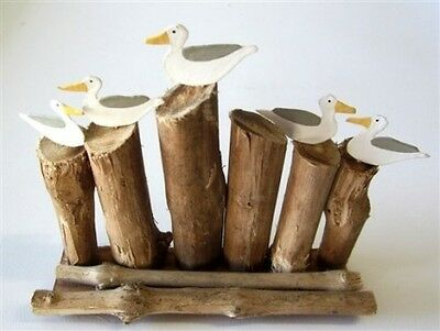 Shoeless Joe Seagulls on a Groyne Decoration - Bathroom Decoration - Bathroom