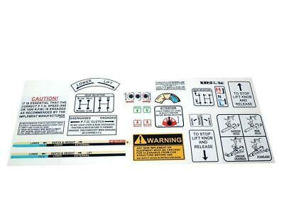 David Brown Tractor Warning & Operations Decal Kit 880 990 995 996 1210 1412
