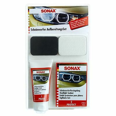 Sonax Car Headlight Restoration Kit Headlamp Lens