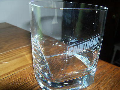 Cointreau Rocks/Highball Glass, Square, Clear, Etched Logo, 3 1/2'' Tall