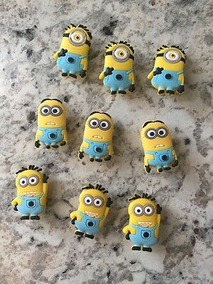 Minions shoe charm set Cake Topper/Hair BowsTop/PartyGift New U.S. Seller