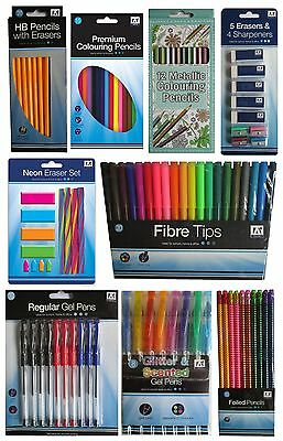 Colouring PENS & PENCILS - Felt Tips Gift School Home Office Supplies {Anker}