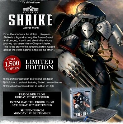 SPACE MARINE LEGENDS SHRIKE (LIMITED EDITION) George Mann warhammer New, Mint