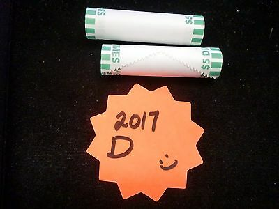 2017 D Bu Roosevelt Dime Bank Wrapped Roll  Ships For Free In The Usa