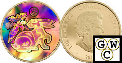 2011 Gold Hologram Year of the Rabbit $150 18K (12724)