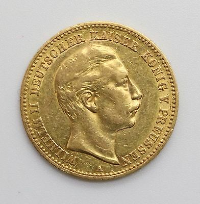 1893-A German Prussian 10 Mark Gold Coin