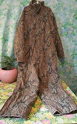 Vintage Columbia Mossy Oak Treestand Camo Insulated Hunting Coveralls XXL Rare