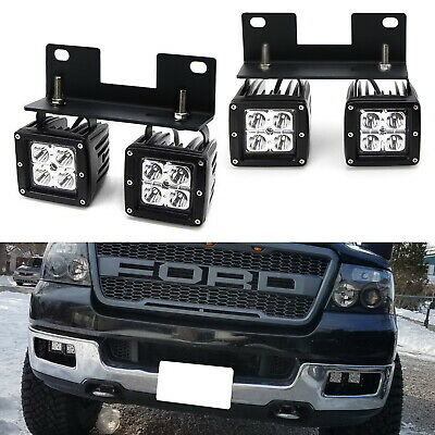 Raptor Style 80W Dual CREE LED Pods w/Foglamp Bracket/Wiring For 04-06 Ford F150