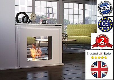 JUNE Tunnel Double Sided Freestanding Bio Ethanol Fireplace Biofireplace & free
