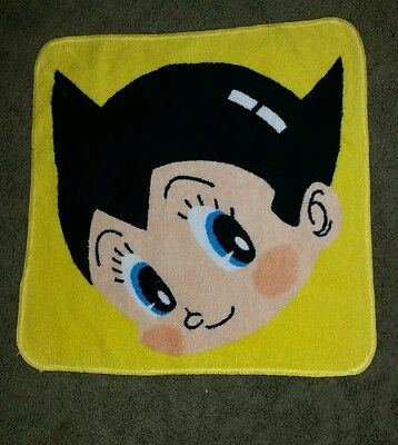 "Astro Boy WASH CLOTH yellow Osamu Tezuka 13"" X 13"" ~ Ray Rohr Cosmic Artifacts"