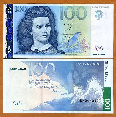 Estonia, 100 Krooni, 2007, P-88, UNC > Pre Euro, Obsolete Currency
