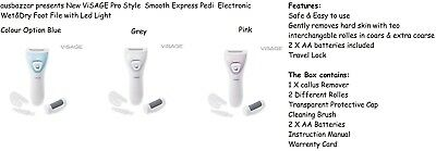 New Scholl Velvet Smooth Express Pedi Rechargable Electronic Wet&Dry Foot File