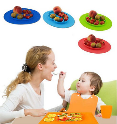 Cute baby sucker silicone non slip table food tray