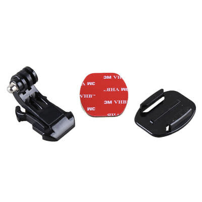 Curved J-Hook Adhesive Buckle Mount Flat Base for GoPro Hero 1 2 3 3+ 4 Session
