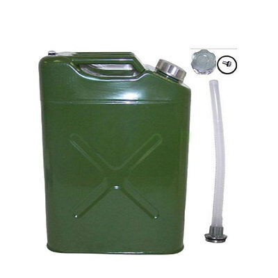 New 5 Gallon Jerry Can Gas Fuel Steel 20L Gal Gasoline Oil Fuel Can Storage Tank
