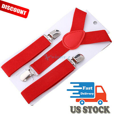 Kids Boys Girls Toddler Highly Stretchable Suspender Elastic Adjustable Braces