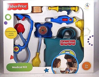 Fisher-Price Doctor Medical Kit Working Stethoscope Boy Girl Toy
