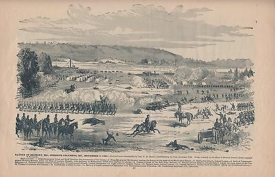 Original Antique Civil War MISSOURI KENTUCKY Columbus KY Panoramic Map Print