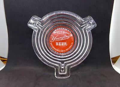 """Vintage Anchor-Hocking Glass Manhattan Yuengling's Beer Ashtray 4"""" Round"""
