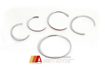 CHROME PLASTIC CLUSTER DASHBOARD GAUGE RING RINGS for PORSCHE CAYENNE PANAMERA