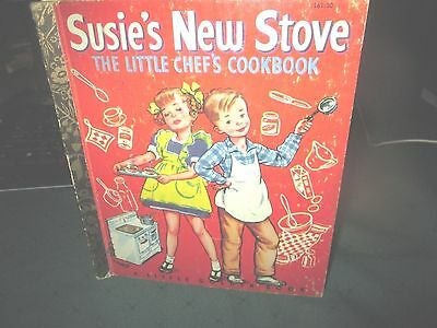 Vintage  Little Golden Book. Susie's New Stove. The Little Chef's Cookbook.