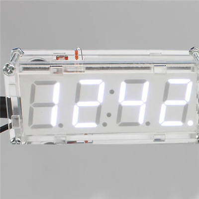 Good LED DIY Digital Electronic  Kit Clock Time Thermometer US