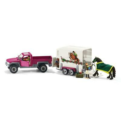 Pick Up with Horse Box - Schleich