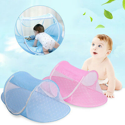 Portable Baby Travel Bed Canopy Crib Play Shades Mosquito Net Sleeping Tent TP