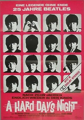 A Hard Day'S Night * The Beatles * Filmposter/filmplakat(2)