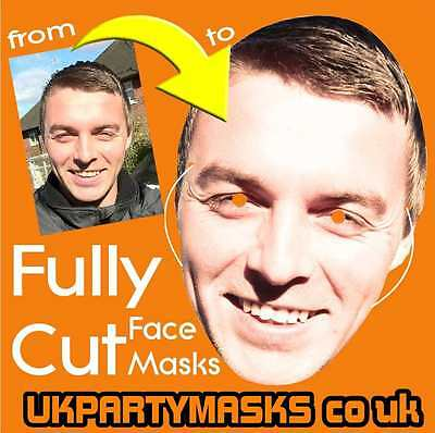 Cheap Custom Made Face Mask Fully Cut Your Personalised Photo Party Idea's FUNNY