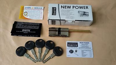 DIERRE NEW POWER CILINDRO 35/30 + 75 mm codolo + 5 chiavi TOP GAMMA SICUREZZA